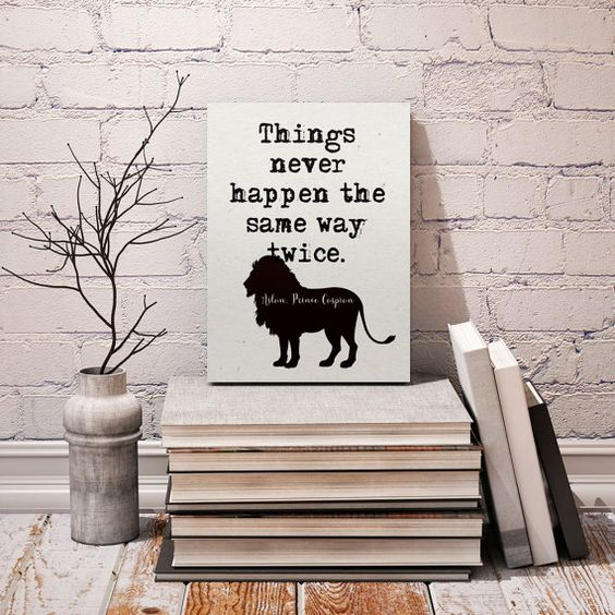 """Aslan C.S. Lewis quote, """"Things never happen..."""", Printable art, Literary Quote , Printable Motivational Quotes quote, Instant download"""