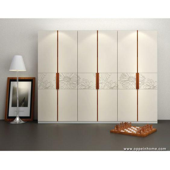 Bedroom Furniture Item Name: Modern White Hinged Wardrobe