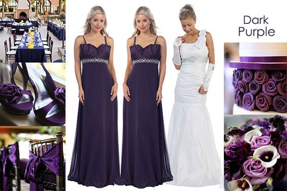 Dark Purple Wedding Theme Deep Makes Your Sophisticated And Lavishing When Combined With Neutral Colors Such As Ivory Cream Sil