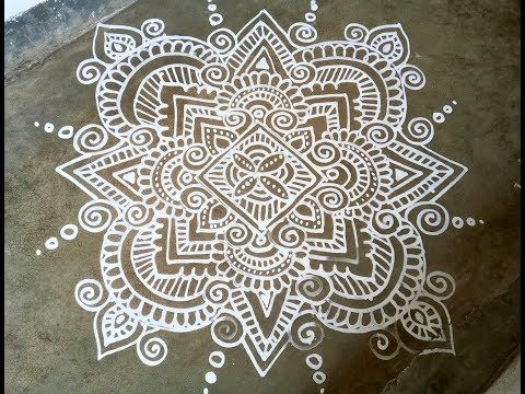 Alpana Design, Jhoti Chita Design No-3,Manabasa Gurubara, Margasira Masa  Gurubar Jhoti Chita - YouTu… | Big rangoli designs, Rangoli designs images,  Rangoli designs