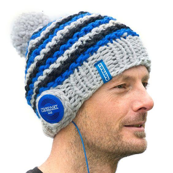 Beatpack Strickmütze mit Kopfhörern von Ratrax - Made by Mum auf DaWanda.com