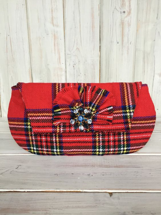Clutch BagTartan Clutch BagHandmade by BarnabyBrownBoutique