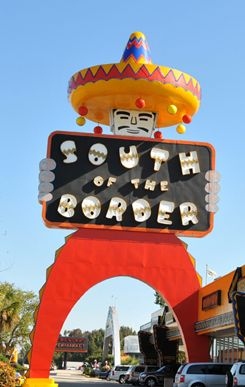 South of the Border...Mexico? Nope! NC/SC!  Just look for Pedro and his HUGE sombrero. Oh man...this place was like it's own little city dedicated to Pedro. Every store was Pedro's. Go there. Now. Before you die. Because it will make you want to live. ;)