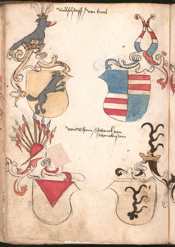 Wernigeroder (Schaffhausensches) Wappenbuch Süddeutschland, 4. Viertel 15. Jh. Cod.icon. 308 n  Folio 192v