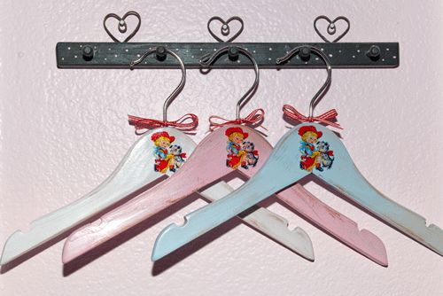 cowgirl vintage style wooden hangers