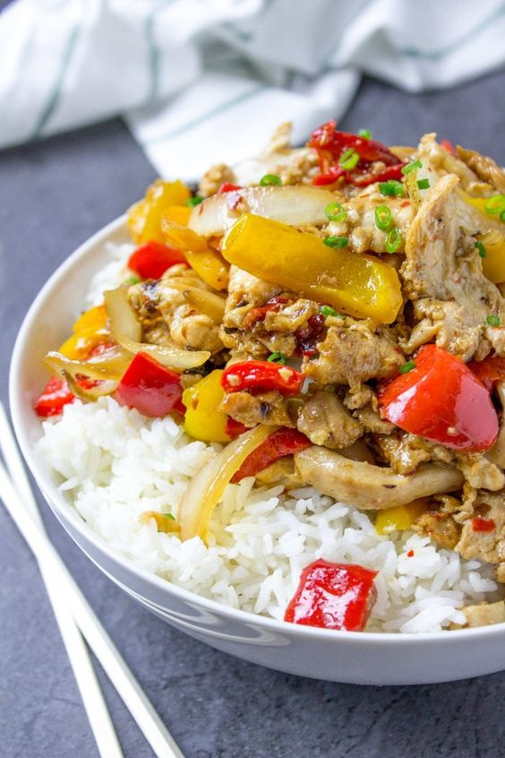 Panda Express Firecracker Chicken Breast with marinated white meat and peppers in a spicy black bean sauce. An authentic recipe from Panda Express!: