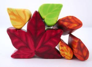 polymer clay fall leaf cane
