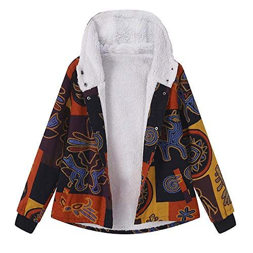 OSTELY Womens Ladies Retro Button Pockets Long Sleeve Bomber Jacket Casual Cardigan Blazer Tops