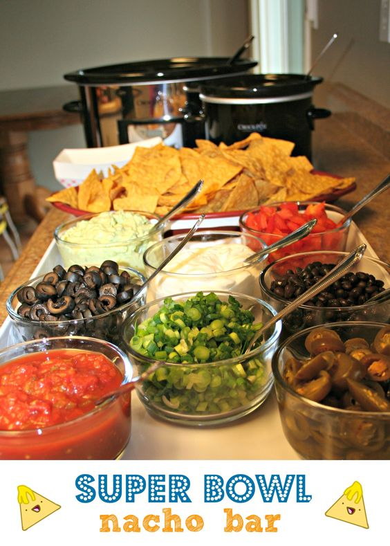 nacho Bar for Monday night football: