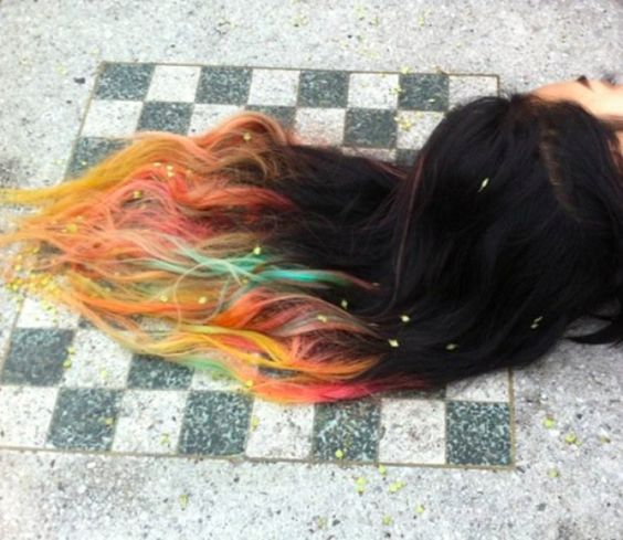 //  #dip #dye #hair