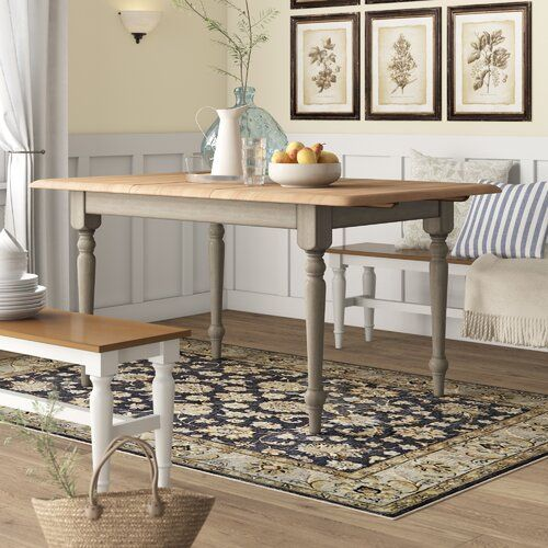 Birch Lane Heritage Calila Extendable Solid Wood Leg Dining Table