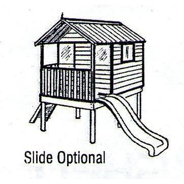 Hideout Range of Cubbies and Cubby Houses | Hideout Supreme Cubby House Elevated