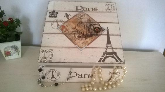 Porta bijus Decoupagem,carimbo,stencil falso riscado