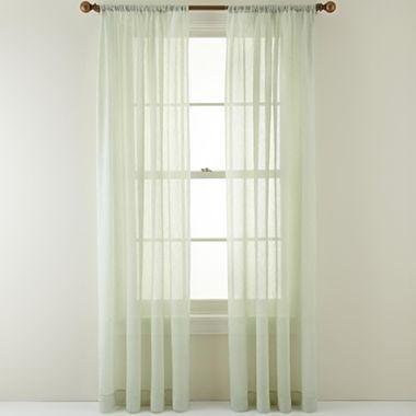 Royal Velvet Crushed Voile Rod Pocket Sheer Curtain Panel Curtains Voile Curtains And Velvet