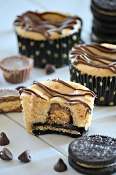 These Mini Peanut Butter Cup Cheesecakes are individually sized peanut butter…