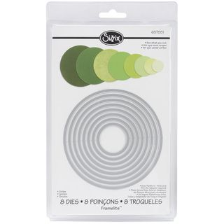 Shop for Sizzix Framelits Circle Die Cuts Package of 8. Free Shipping on orders over $45 at Overstock.com - Your Online Scrapbooking Shop! Get 5% in rewards with Club O!