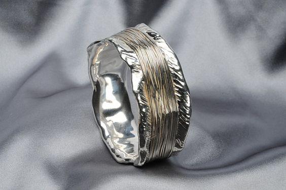 925 Sterling Silver #Electroform Bracelet by #Israeli Jeweler Ilan Abramovich  @ IlanaArtisticJewelry