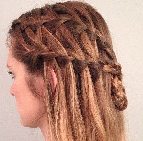 Gorgeous Waterfall Braid Hairstyle You Can Make By Yourself Gorgeous Waterfall Braid Hairstyle You Can Make By Yourself