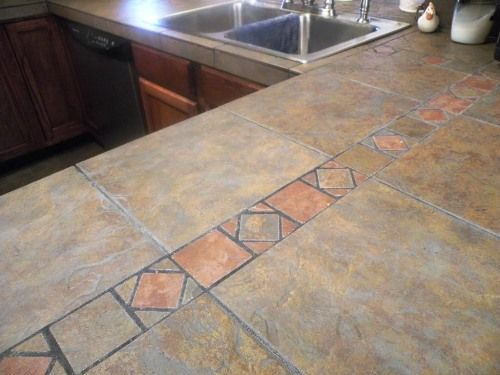 Kitchen ideas tile kitchen countertops and tile - Kitchen counter tile ideas ...
