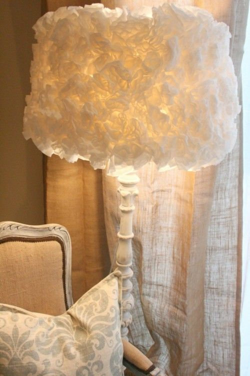 Diy coffee filter lamp shade 20 creative diy lamp ideas craft ideas pinterest the shade - Creative lamp shades ...