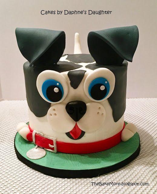 Wondrous Easy Puppy Dog Face Cake With Images Puppy Birthday Cakes Dog Funny Birthday Cards Online Necthendildamsfinfo