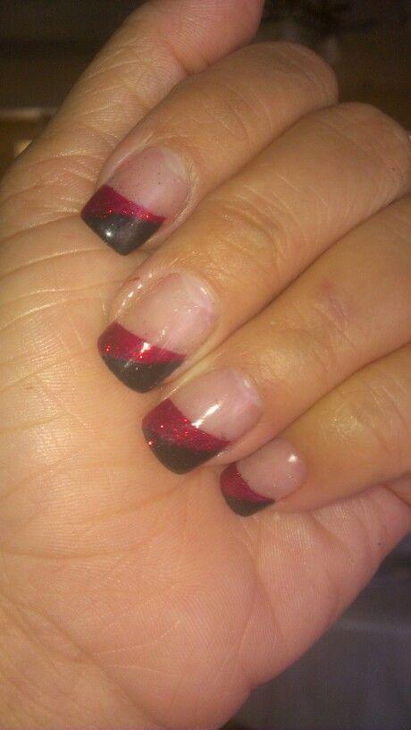 Black n red glitter