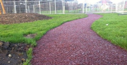 Surfacing For The Daily Mile In Perth And Kinross Daily Mile In 2020 Rubber Mulch Mulch Recycled Rubber
