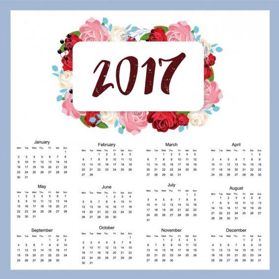 Diseño de calendario de 2017 Vector Gratis