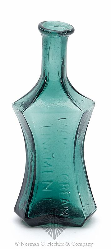 Loomis's Cream Linament Medicine Bottle, America, 1840-1860, Heckler  Auctioneers Catalog, Winning Bid: $1287.00: