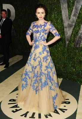 Lily Collins at the Vanity Fair Oscar Party
