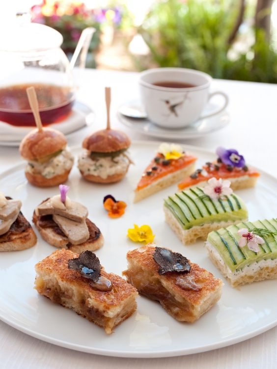 Afternoon tea sandwiches at @Hotel Bel-Air!