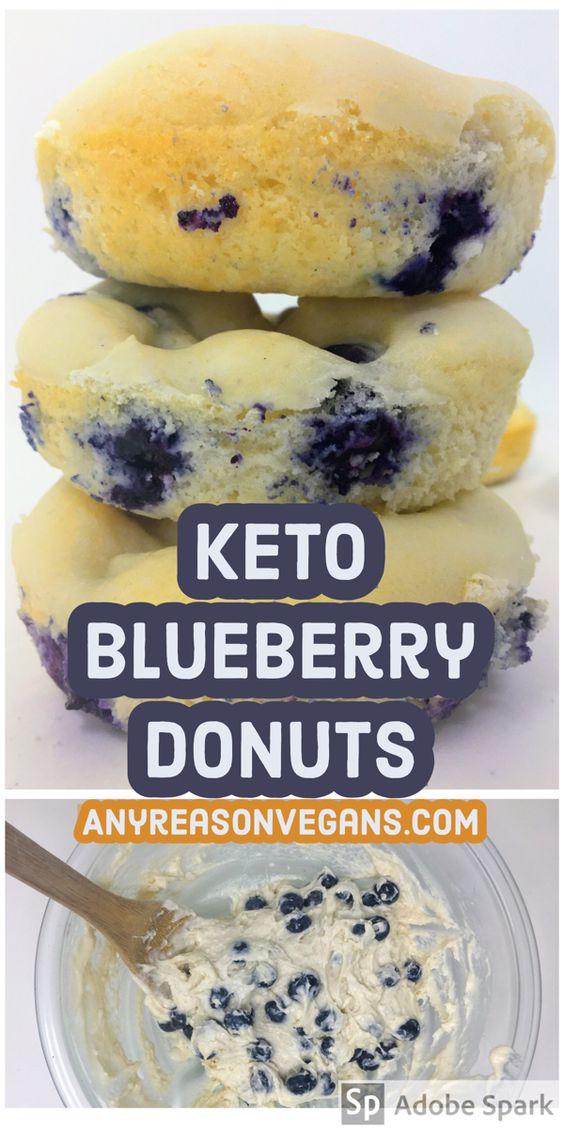 Easy Keto Blueberry Donut Recipe - Any Reason Life