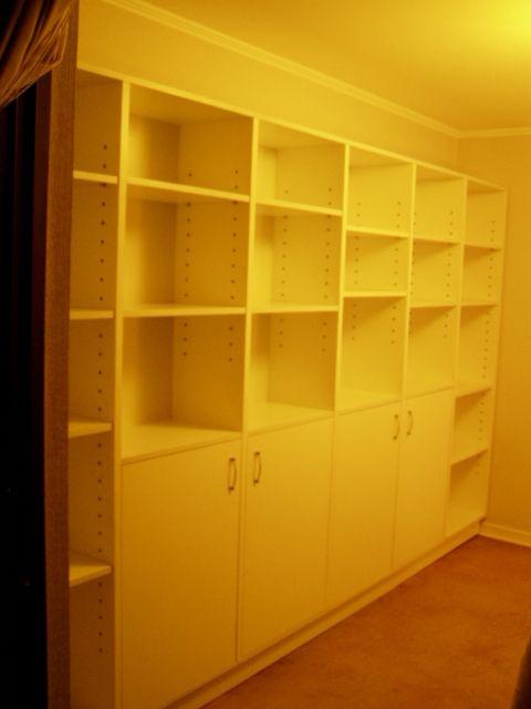 Mueble biblioteca melamina engrosada para guardado y for Muebles de melamina