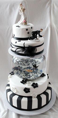 Fish tank cake 02 wedding ideas pinterest fish tanks for Fish tank cake designs