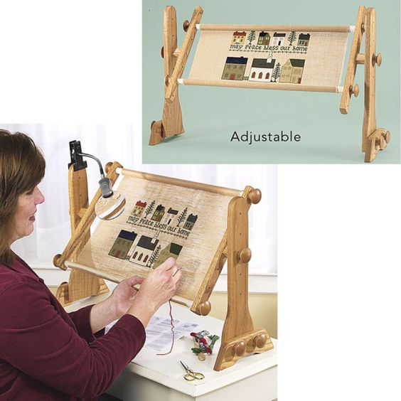 Tomorrow's Treasures Lap Stand and Frame - Cross Stitch, Needlepoint, Stitchery, and Embroidery Kits, Projects, and Needlecraft Tools   Stit...:
