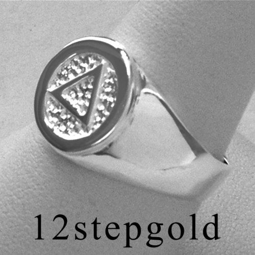 Alcoholics Anonymous Aa Symbol Circle Triangle Wide Signet Men S