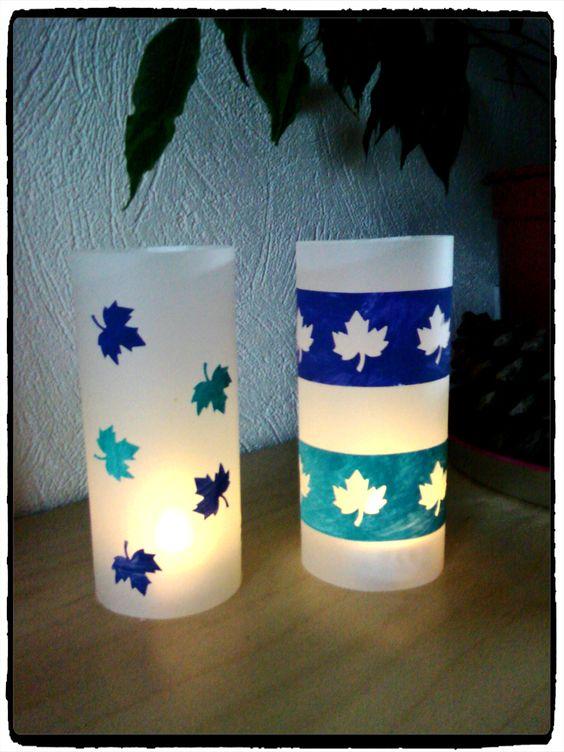 lanterne dautomne, bricolage automne, photophores, enfant