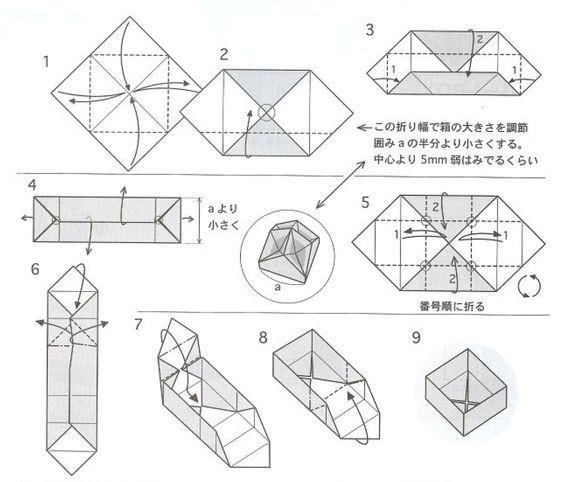 como hacer cajas de papel cuadradas - Buscar con Google