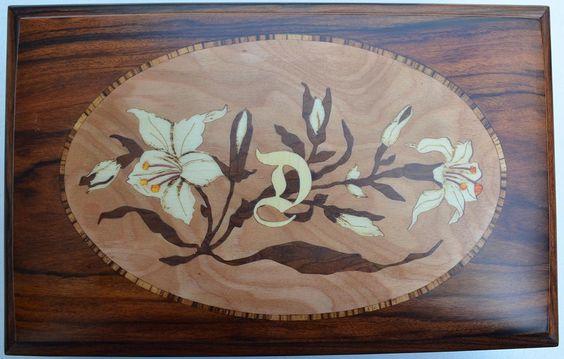 Caixa da Daniella - Marchetaria [Marquetry] - a (wood work - Box)