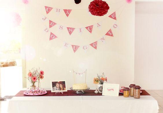 ideia para mesa de noivado