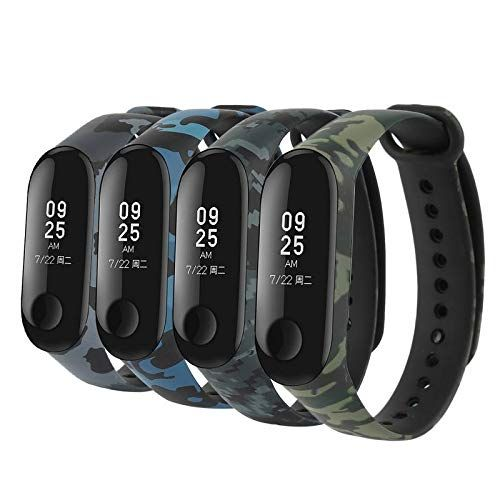 Mstick Replacement Silicone Camouflage Army Style Band Strap For Xiaomi Mi Band 3 4 Electronics Best News And Deals Smart Bracelet Watch Bands Xiaomi
