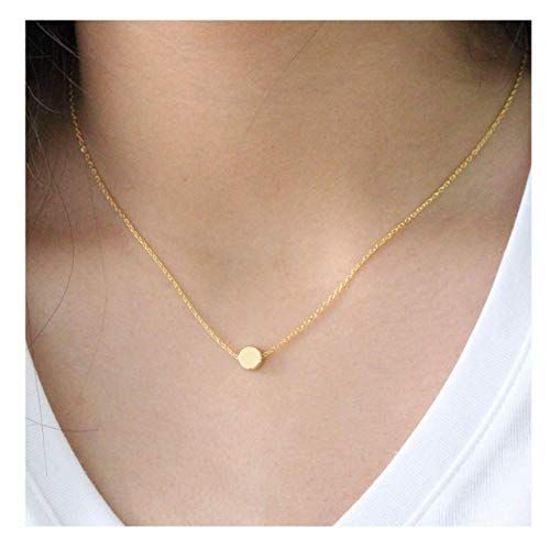Women/'s Girl/'s Minimalist Silver or Gold Moon Chain Pendant Necklace Jewellery