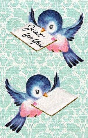 oiseau bleu portant un message