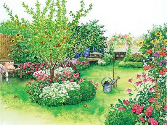 Ein Bauerngarten-Beet zum Nachpflanzen Gardens, Garten and