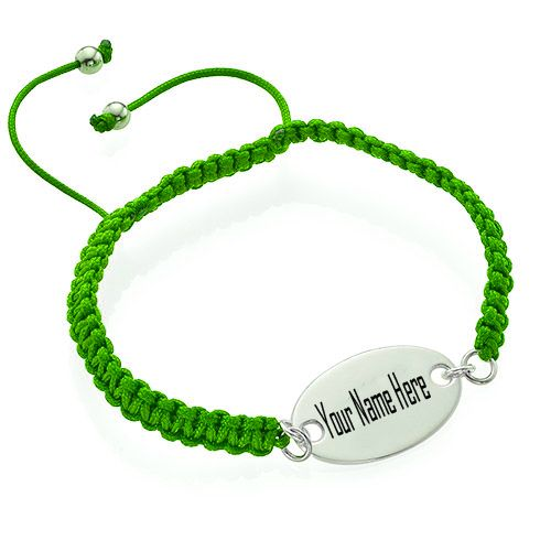 Write Your Name On Engraved Oval Tag Bracelet