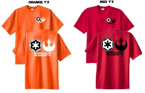 Costume Support shirts for the 501st and Rebel wranglers.