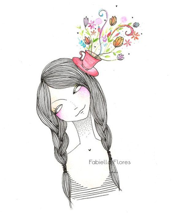 As ilustrações fofas da Fabiella Flores!
