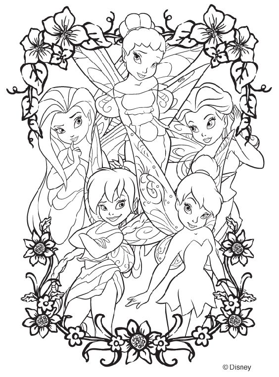 Tinkerbell Jump in Pixie Coloring Page | faries | Pinterest ...