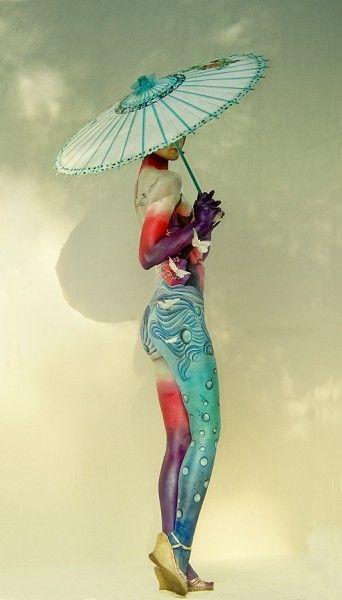 Gorgeous body paint