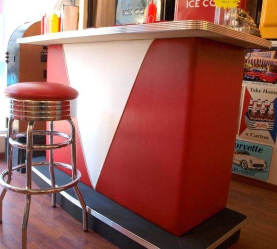 Bar de maison vintage parfait pour votre diner ou m me votre maison american diner - Idee deco bar maison ...